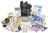 Lightning X Stocked EMS/EMT Trauma & Bleeding First Aid Responder Medical Backpack + Kit (Black Camo)
