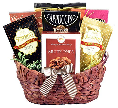 Gift Basket Village Caffe Lovers with Chocolate Cookies,...