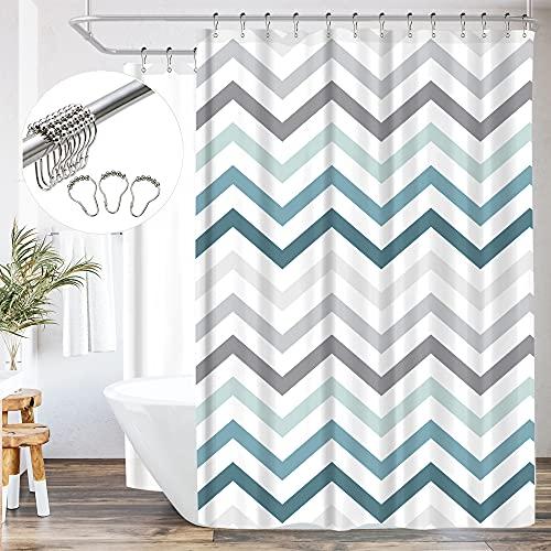 Riyidecor Clawfoot Tub Shower Curtain Panel 180x70 Inch All Wrap...