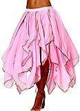 Seawhisper Fairy Costume for Women Latin Dance Skirt Masquerade Pink