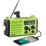 Radio Solaire, Radio d'urgence Portable à Manivelle avec AM/FM/SW/NOAA,...