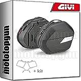 givi portamaletas lateral + maletas lateral wl900 weightless compatible con kawasaki versys 650 2017 17