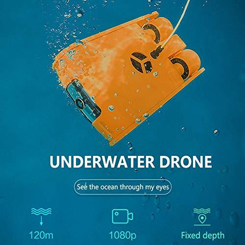 Portable Subacquea Drone, 4K Fotocamera Ricerca di Tiro di Immersione E di Soccorso Subacqueo del Robot, Cavo 100m di Memoria 32G con Telecomando, Adatto for Lavori Subacquei ( Color : 100M )