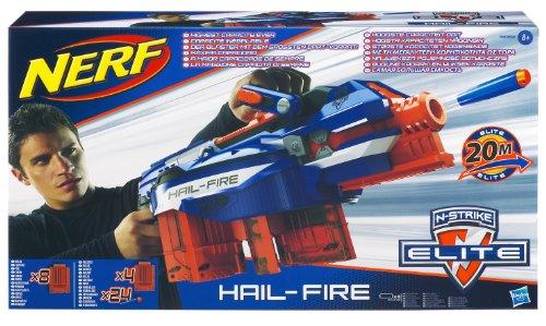 Nerf N-Strike Elite - Hail-Fire con 8 porte e 24 dardi