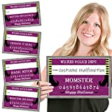 Big Dot of Happiness Happy Halloween - Witch Party Mug Shots - Photo Booth Props Kit - 20 Count