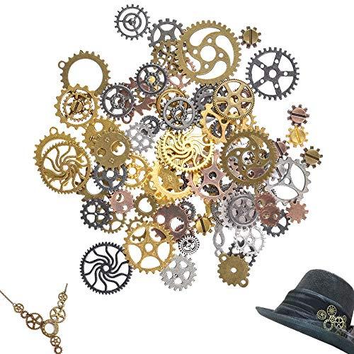 Antiguo Steampunk engranajes encantos reloj reloj rueda engr