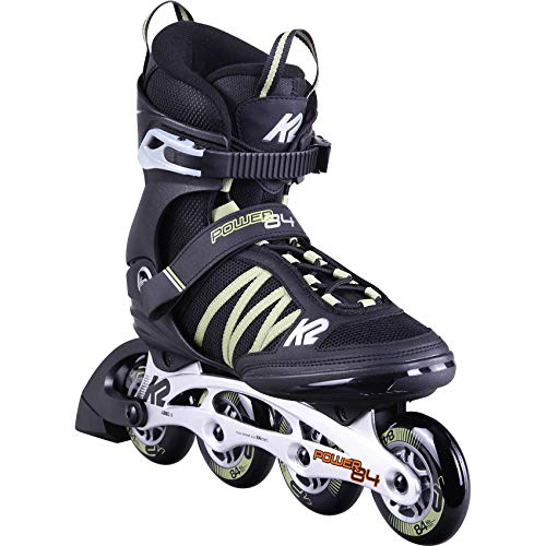 K2 Skates Herren Inline Skate Power 84 — Black - Sand — EU: 45 (UK: 10.5 / US: 11.5) — 30D0371