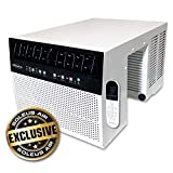 Soleus Air Exclusive 6,000 BTU Energy Star First Ever Saddle Air Conditioner with MyTemp Remote Control, Extremely Safe and Quiet, Keep Your Window View(6,000 BTU)