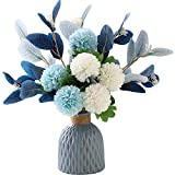 NAWEIDA Artificial Flowers with Vase Faux Hydrangea Flower Arrangements for Home Garden Party Wedding Decoration