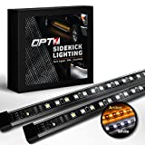 OPT7 2pc 60' Side Kick Running Board LED Strips w/Amber Turn Signal, DRL, and White Courtesy Lights