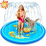 (68') Inflatable Splash Sprinkler Pad for Kids Toddlers Dogs, Kiddie Baby Pool, Outdoor Water Mat Toys - Baby Infant Wading Swimming Pool - Fun Backyard Fountain Play Mat for 1 -12 Year Old Girls Boys