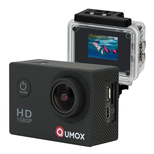 QUMOX SJ4000 Action Sport Cam Camera Waterproof Full HD 1080p Video Helmetcam, Nera