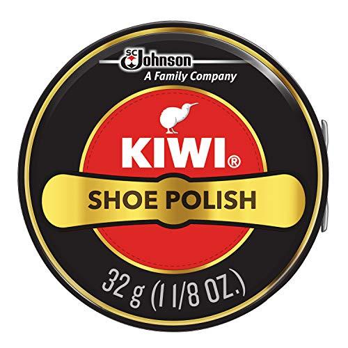 KIWI Black Shoe Polish, 1.125 oz, 1 Metal Tin