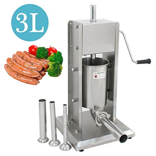 Product Image 3: Super Deal 3L Sausage Filler Sausage Stuffer 7LB Dual Speed Meat Maker, Vertical Stainless Steel Meat Sausage Stuffer w/ 4 Filling Funnels (Sausage Filler 3L)