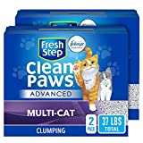 Fresh Step Advanced Clean Paws Clumping Cat Litter, Low Tracking Cat Litter with Odor Control - 37...