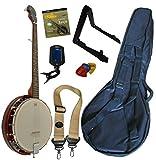 Pack BANJO 5 Cordes et 6 Accessoires (Housse, Accordeur, Support, Sangle,...