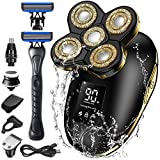 Head Shaver, Orihea Electric Razor Men 6-in-1 Electric Shaver with...