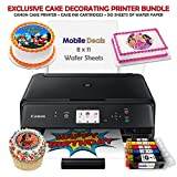 Mobile Deals Tasty Treats and Birthday Cake Topper Image Printer Bundle - Includes Canon Wireless Printer, Cake Ink Cartridges and Wafer Paper Kit