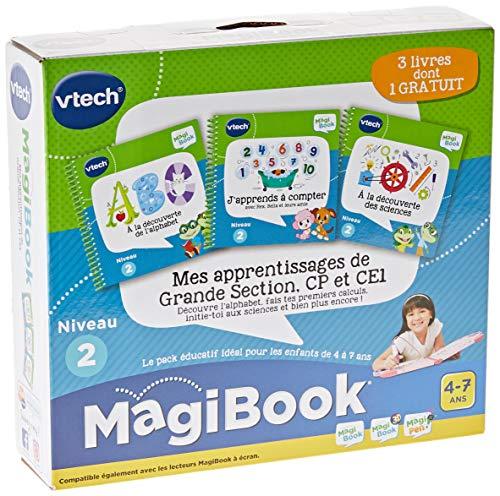 VTech - Livre MagiBook - Mes apprentissages de Grande Section, CP & CE1 - Pack de 3 livres, livres éducatifs – Version FR