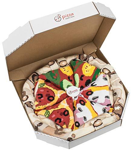 Rainbow Socks - Pizza MIX Vegetariana Capricciosa Pepperoni Donna Uomo - 4 paia di Calze - Taglia...