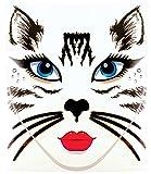 Morris Costumes - Face Decal Cat - Standard