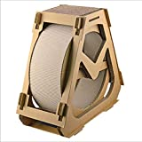 OJBK Corrugated Paper cat Scratch Board cat Exercise Wheel Wheel cat Tree House Running cat Running with Rotating Toy cat Indoor Activity Center Big,L