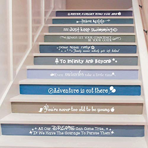Ewdsqs Stairway Decals Quote Wall Sticker for Stairs Staircase Decor...
