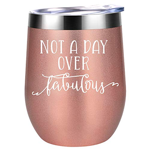 Not a Day Over Fabulous - Funny Birthday Wine Gifts Ideas...