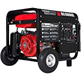 Durostar DS10000E Gas Powered Portable Generator-10000 Watt Electric Start-Home Back Up & RV Ready, 50 State Approved, Red/Black