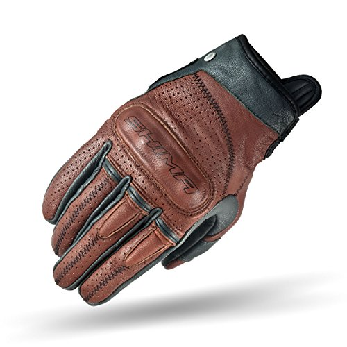 SHIMA Caliber Mens Vintage Leather Motorcycle Gloves - Brown / XL