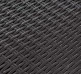 Keter Pacific Rattan Outdoor verstellbare Sonnenliege – Grau (Graphit) - 3