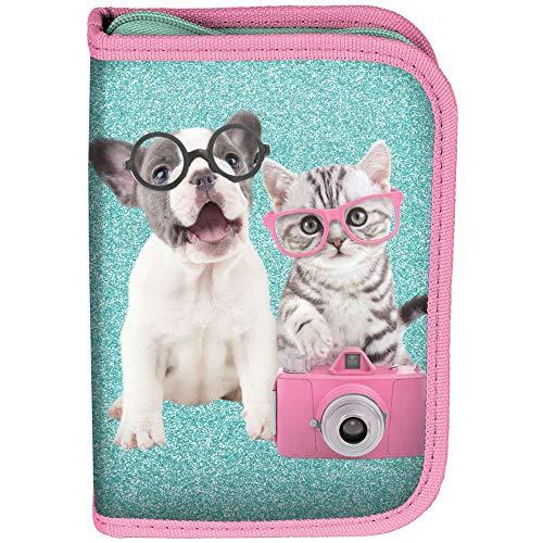 Borsa per bambini 22 pezzi Studio Pets cane e gatto con occhiali verde/rosa