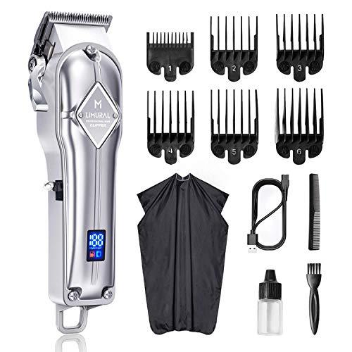 Limural - Tagliacapelli professionale da uomo, ragazzo, bambino, kit rasoio per capelli, barba, senza fili, ricaricabile, per la famiglia
