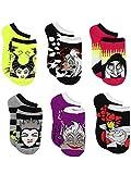 Disney Villains Teen Womens 6 pack Socks (9-11 Womens (Shoe: 4-10), Villains Black/Multi)