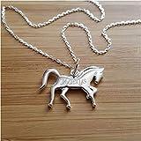 MELI MELOW Collier avec cheval poney et gravure du prénom de...