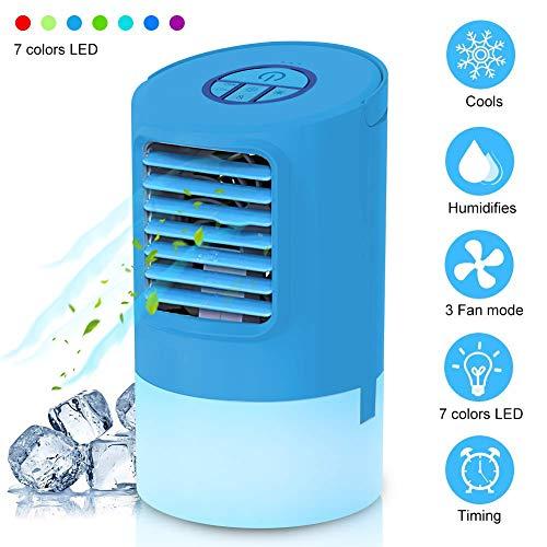 EEIEER Mini Klimaanlage Luftbefeuchter Mobile Klimagerät Air Cooler wasserkühlung Leise...