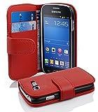 Cadorabo Coque pour Samsung Galaxy Trend Lite en Rouge Cerise - Housse...