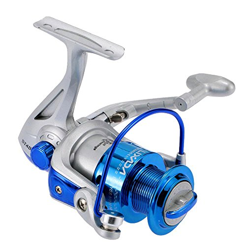 Lixada Mulinello da Pesca 8BB Palla Cuscinetti Sinistra Destra Intercambiabile Collassabile Mulinello da Spinning ST4000 5.1:1