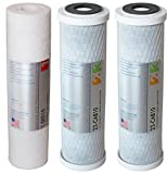 APEC Water Systems Filter-Set US Made Double Capacity Replacement Stage 1-3 for Ultimate Series Reverse Osmosis System, Standard