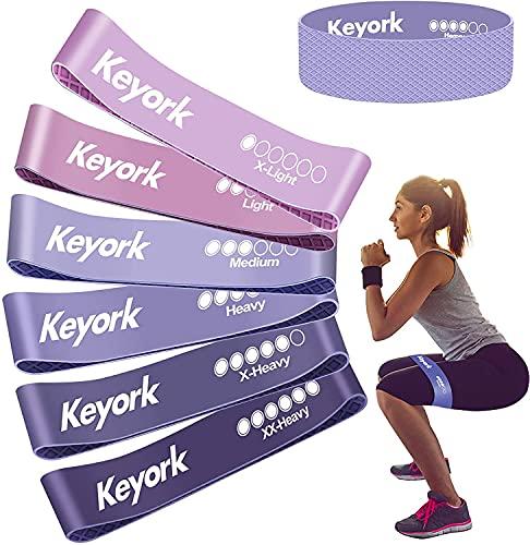 Keyork - Fasce Elastiche per Fitness, Elastiche di Resistenza, con Guida di Esercizi, [Con texture antiscivolo]da...