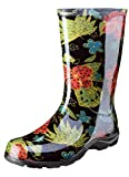 Sloggers Women's Waterproof Rain and Garden Boot with Comfort Insole, Midsummer Black, Size 7, Style 5002BK07