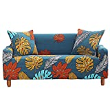 Tropical Leaves Printed Couch Cover Stretch Arm Chair Large Sofa...
