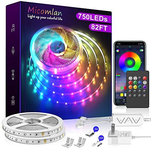 82 Ft/25m LED Strip Lights,Micomlan Music Sync Color Changing...