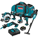 Makita XT614SX1 18V LXT Lithium-Ion Cordless 6-Pc. Combo Kit (3.0Ah)