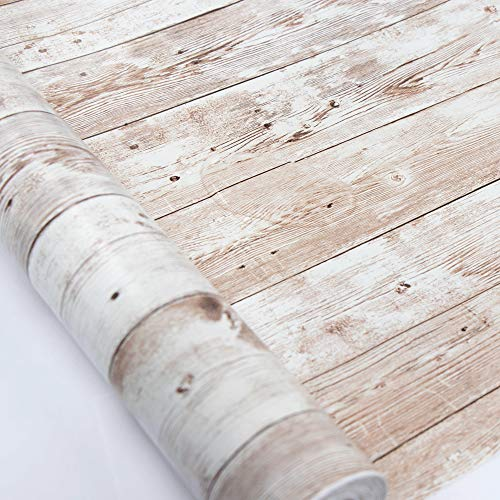 Wood Self Adhesive Paper 17.71' X 32.8 Ft Self-Adhesive Removable...