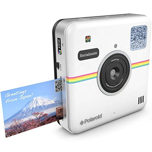 Polaroid Socialmatic 14MP Wi-Fi Digital Instant Print & Share Camera - Share on Socialmatic PhotoNetwork, Facebook, Instagram, Twitter & More - White
