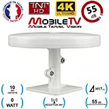 Antenne TV TNT HD 4K Omnidirectionnelle 55dB camping car / caravane / camion /...