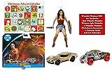 Ropeastar Wonder Woman Gift Set, Hot Wheels 2 Pack Wonder Woman Cars and Wonder Woman Christmas Ornament Bundle, Wonder Woman Toys Collection, Christmas Tree Decoration, Advent Calendar, Ideas