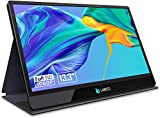 LABISTS 13.3' Monitor Porttil HDMI 1920x1080P, 16:9 IPS Panel con USB C, Dos Altavoces Integrados, Grosor 9,7mm, Compatible con Ordenador Porttil, Telfono Mvil, PS3/PS4/XBOX, Raspberry Pi, Cmara