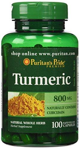 Puritans Pride Turmeric 800 Mg, 100 Count